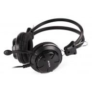 A4TECH Headset HS-28, 3.5mm, 40mm ακουστικά, stereo, μαύρα